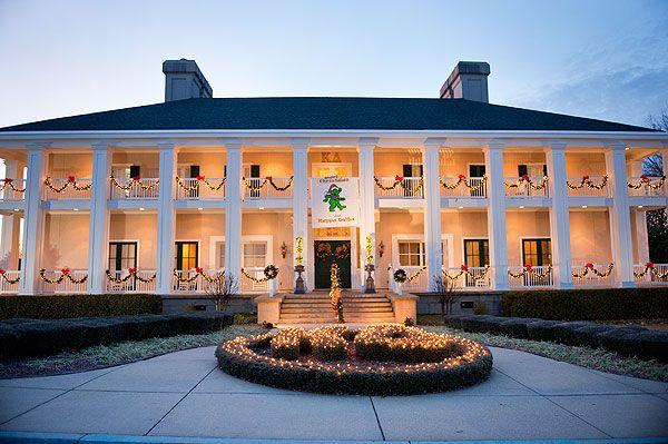 Kappa Delta House At Dusk With Christmas Lights Sorority House