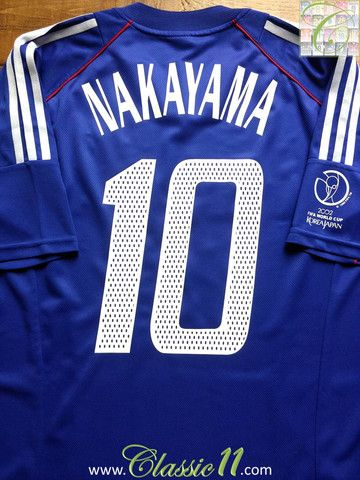 Relive Masashi Nakayama S 2002 World Cup With This Vintage Adidas Japan Home Football Shirt Football Shirts World Cup Shirts Vintage Adidas