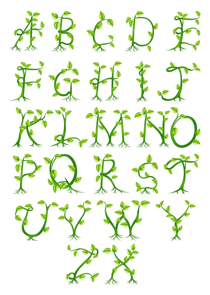 Lovely Tree Themed Alphabet Great For Displays Lettering Alphabet Nature Font Nature Letters