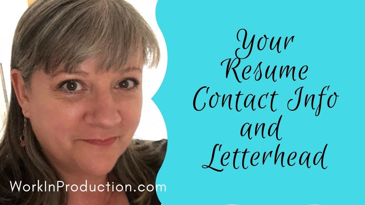 How to write your contact info on your resume resume