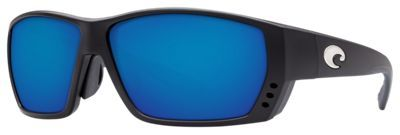 Costa Tuna Alley OmniFit 580G Polarized Sunglasses - Black/Blue Mirror