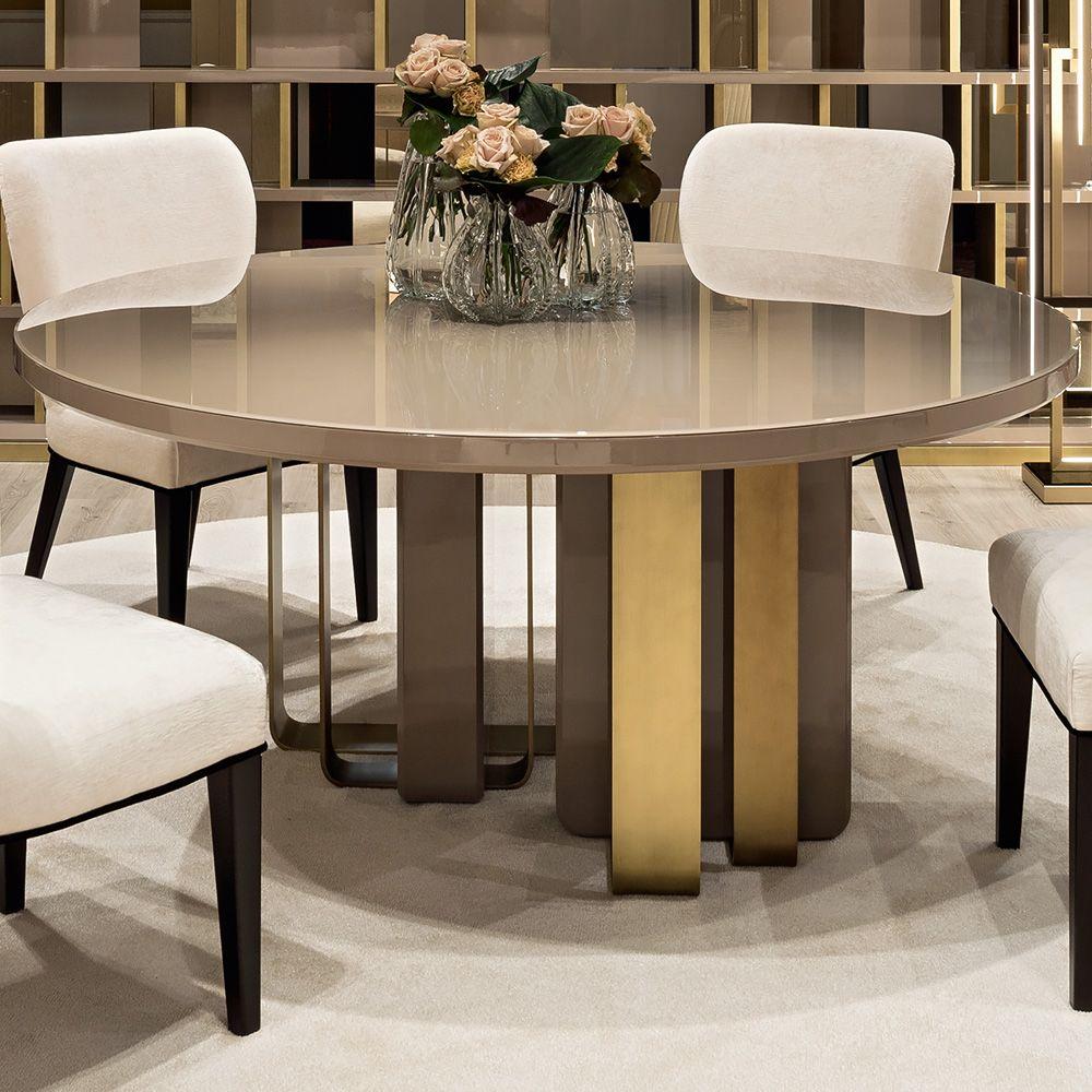 Designer Dining Tables Luxury Italian Round Lacquered Designer