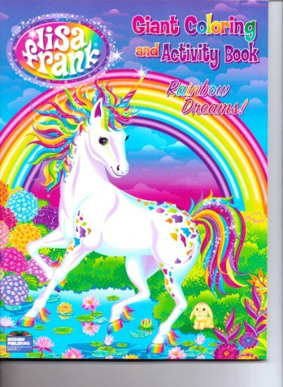 Amazon.com: Lisa Frank Giant Coloring and Activity Book ( Rainbow ...