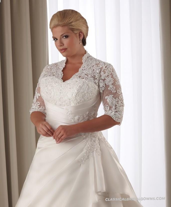Get Beautiful Bonny Unforgettable 1206 Plus Size Wedding Dress
