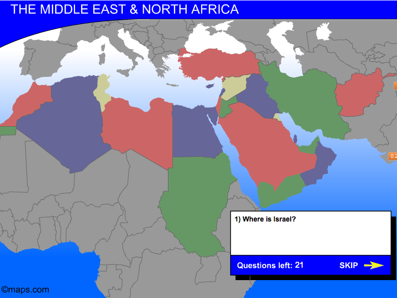 Middle East Map Game | Geography games, Geography map, North ...