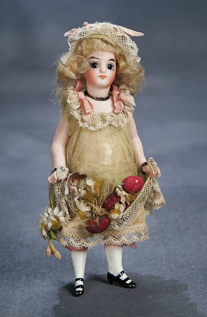 "Theriault's - 6"" Beautiful German All-Bisque Doll for the French Market"