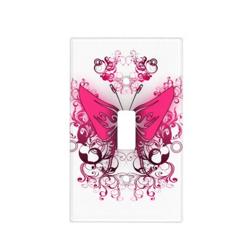 Hot Pink Tribal Butterfly Light Switch Covers 14 95 Homedecor Light Switch Covers Butterfly Wall Butterfly Lighting