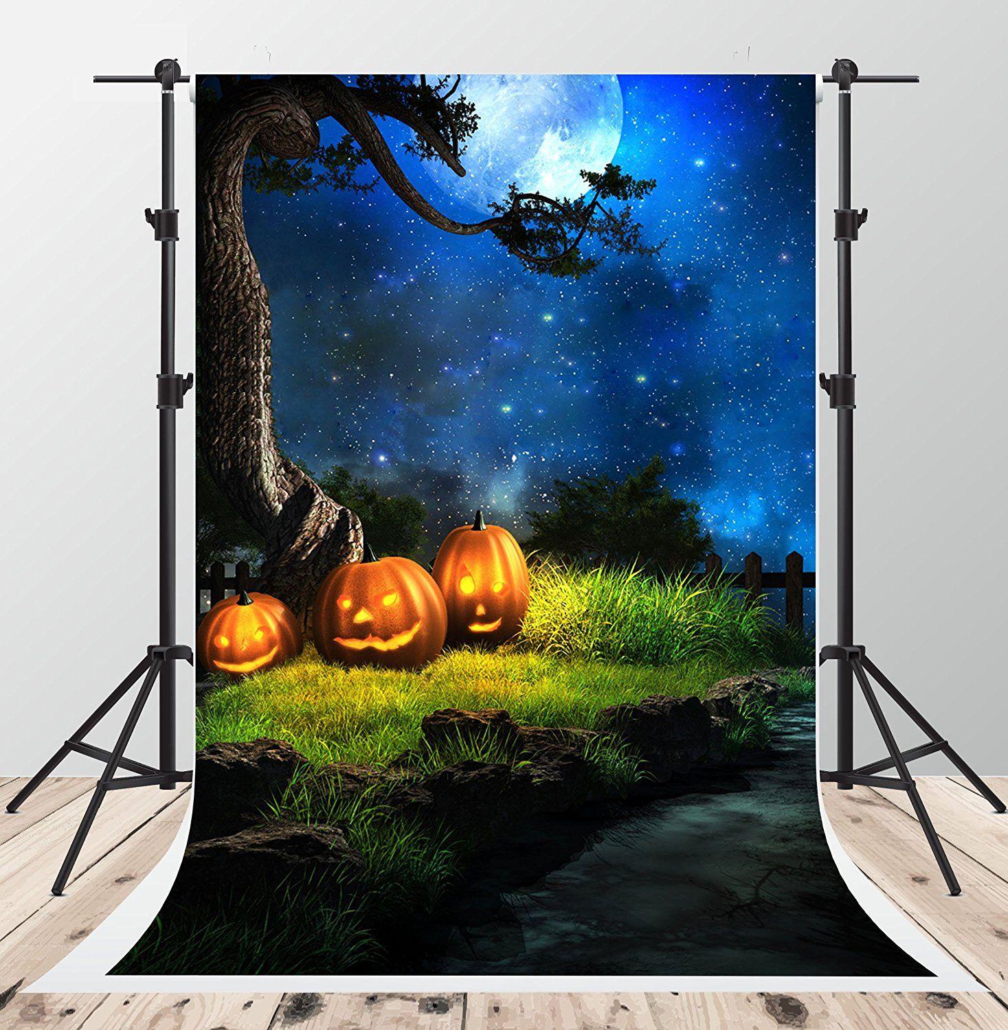 Amazon Com 5x7ft Halloween Night Photography Backdrops Blue Sky