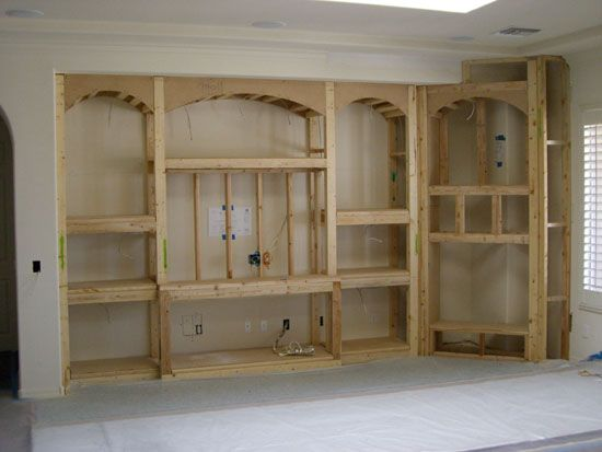 Install Drywall Built-in Entertainment Centers