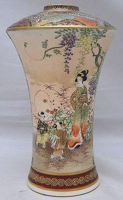 Impressive Japanese Meiji Period Satsuma Vase signed