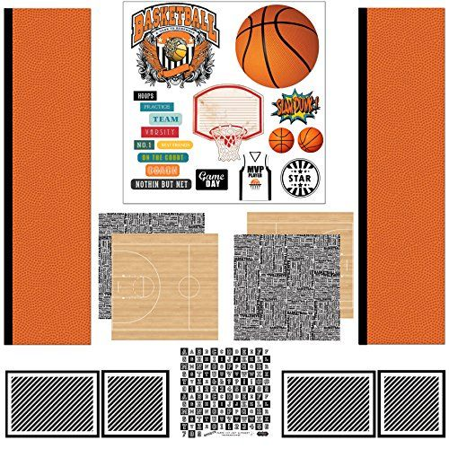 Scrapbook Customs Themed Paper Scrapbook Kit Basketball Sport Paper