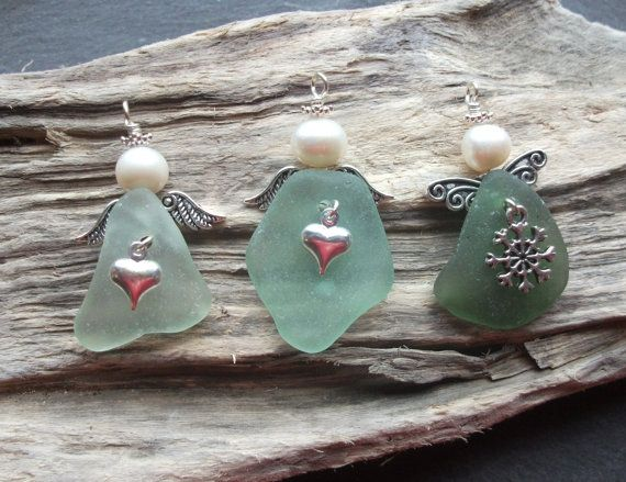 Sea Glass Angel Scottish Seaglass by byNaturesDesign on Etsy, $10.00