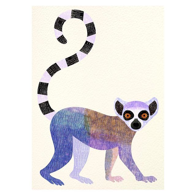 l is for lemur day 12 of my illustration challenge a-z of ...