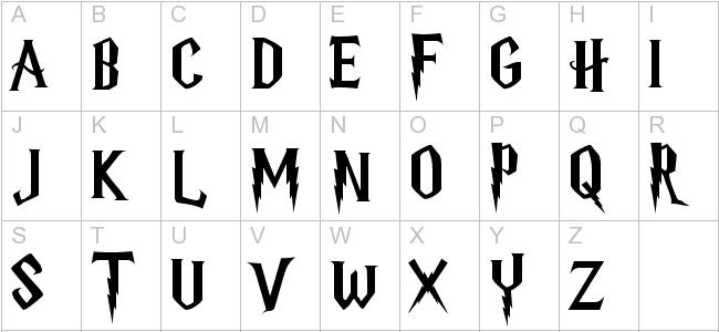 Harry Potter Font Harry Potter Font Harry Potter Letter Font Harry Potter Alphabet
