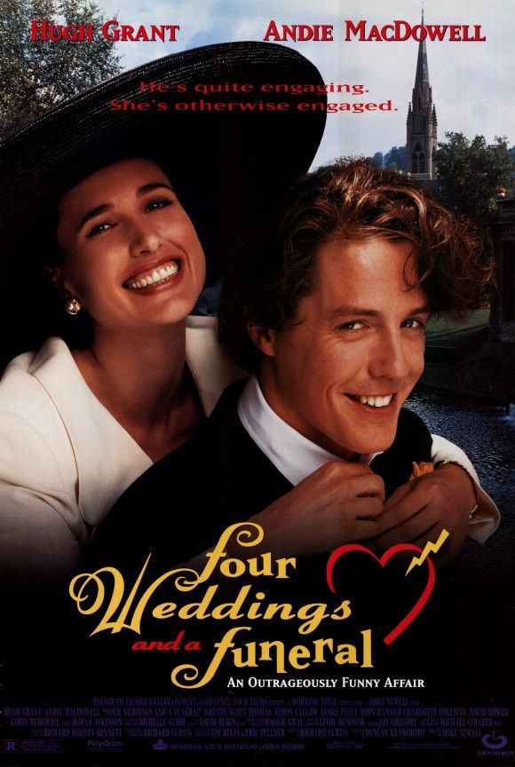 Four Weddings And A Funeral 11x17 Movie Poster 1994 Romantic Movies Wedding Movies Film Movie