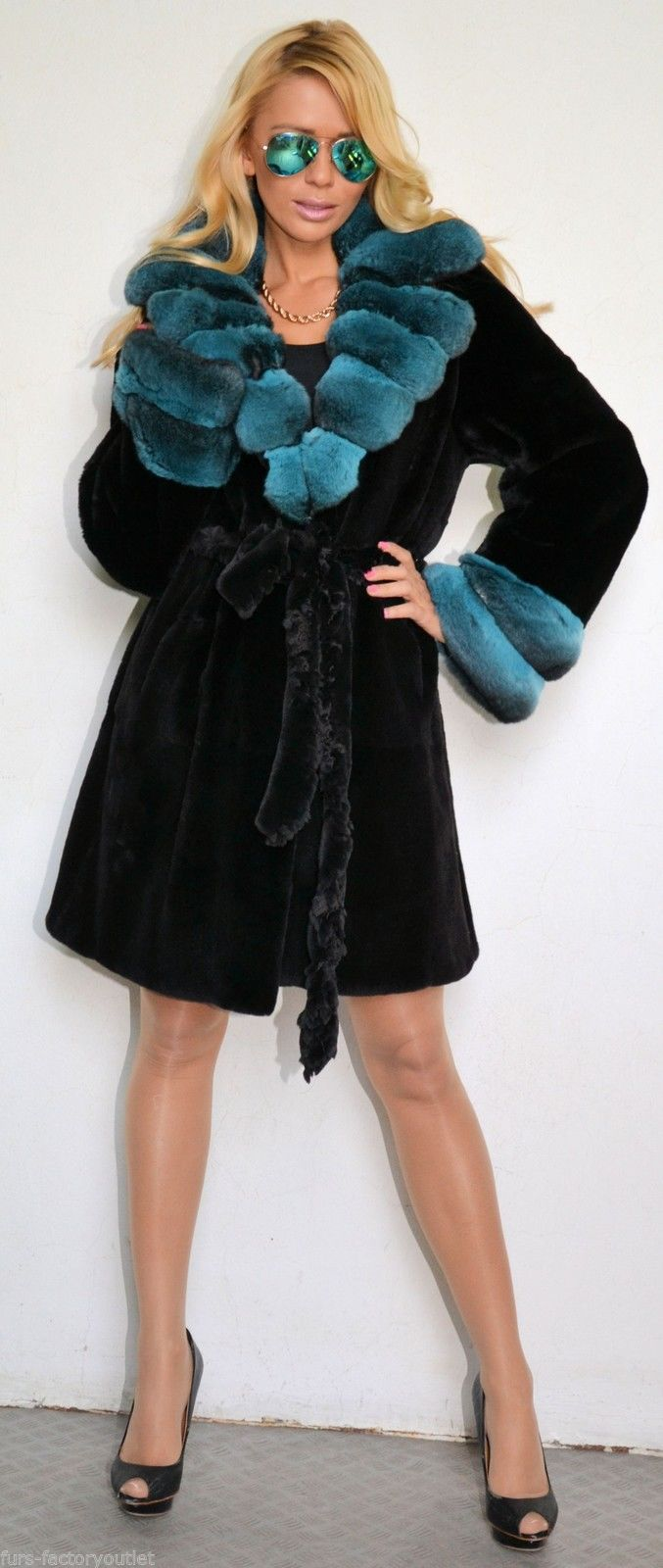 Ranch Mink And Dyed Chinchilla Fur Coat