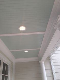 Palladian Blue by Benjamin Moore. The perfect haint blue for a porch ceiling. Try this one out!