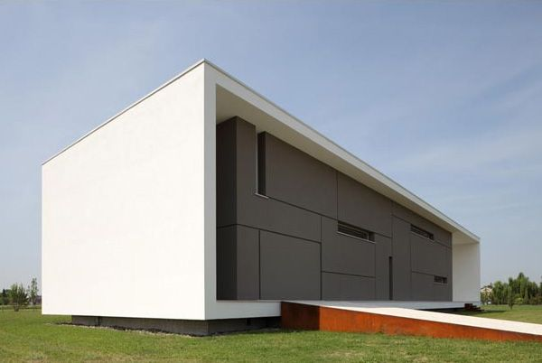 Italian Home Architecture Super Minimalist House Design Form