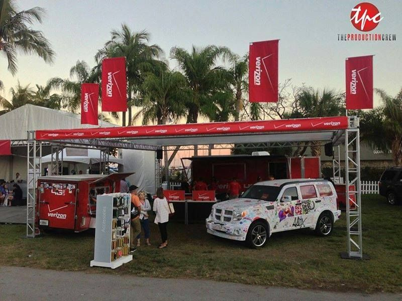 Custom 30x30 Branded Outdoor Structure with Roof for Coconut Grove Arts Festival
