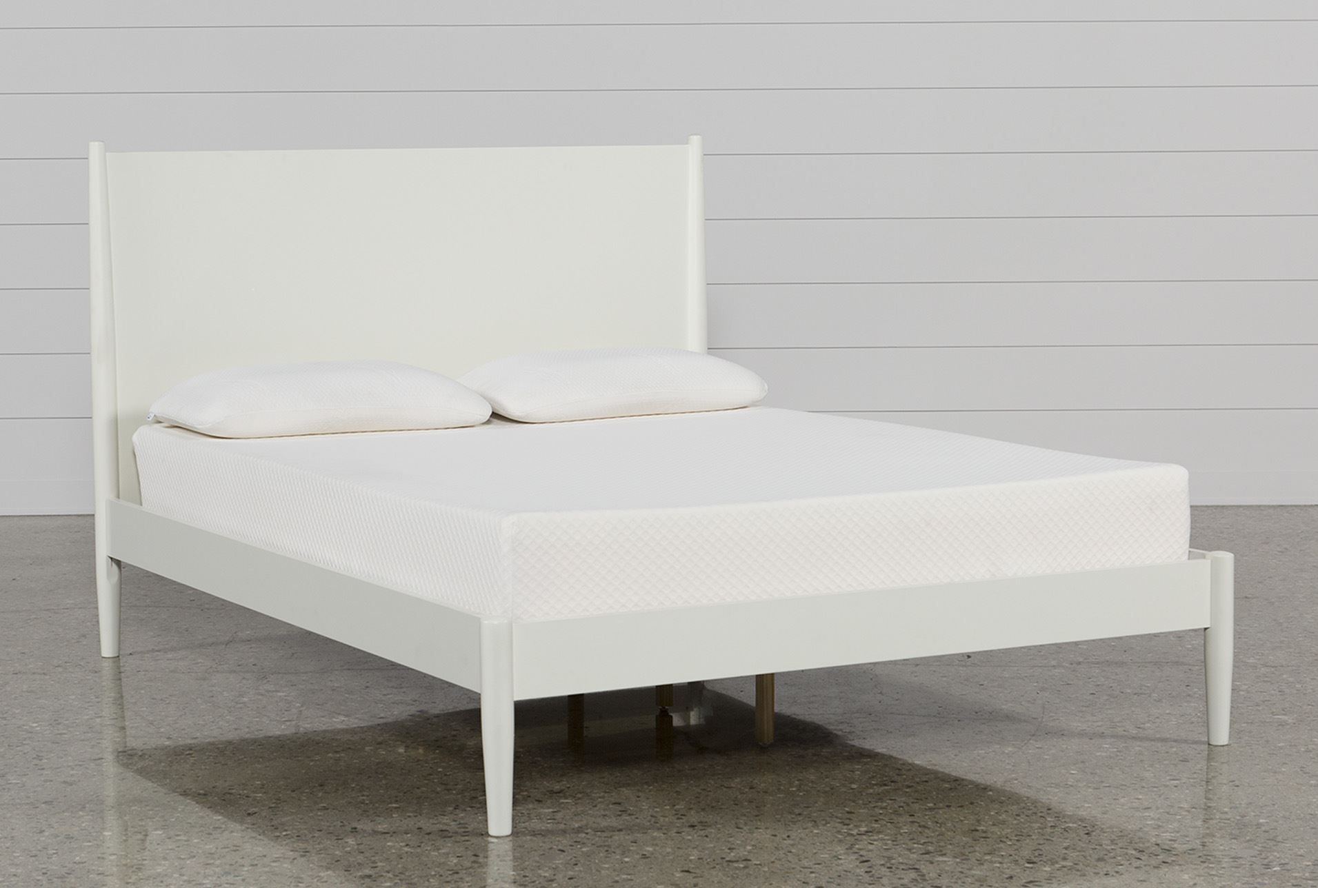White Eastern King Platform Bed, Alton   Platform beds, King ...
