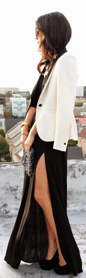 Skirt With A Thigh High Slit