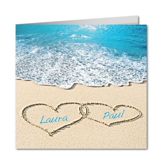 Extrêmement Coeurs dans le sable / faire-part mariage | *Mariage* Voyage  TZ65
