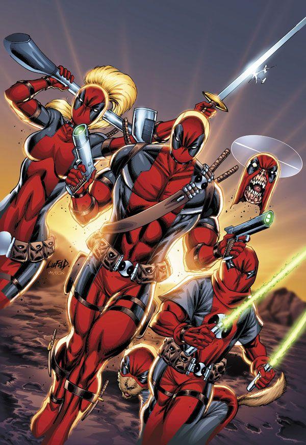 #Deadpool #Fan #Art. (DEADPOOL CORPS (2010) #12 Cover) By: Rob Liefeld. [THANK U 4 PINNING!!]
