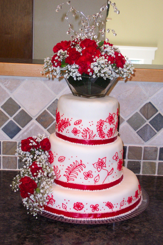 40th Wedding Anniversary Cake   Cakes - Ouh La La! Gourmet Bakery ...
