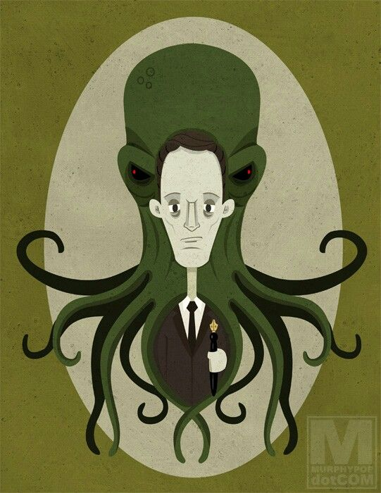 Lovecraft author illustration