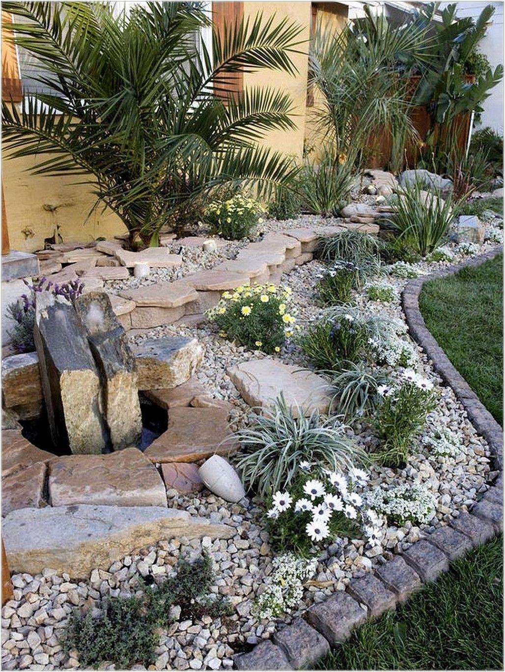 The Beautiful Front Yard Rock Garden Ideas Rock Garden Rock