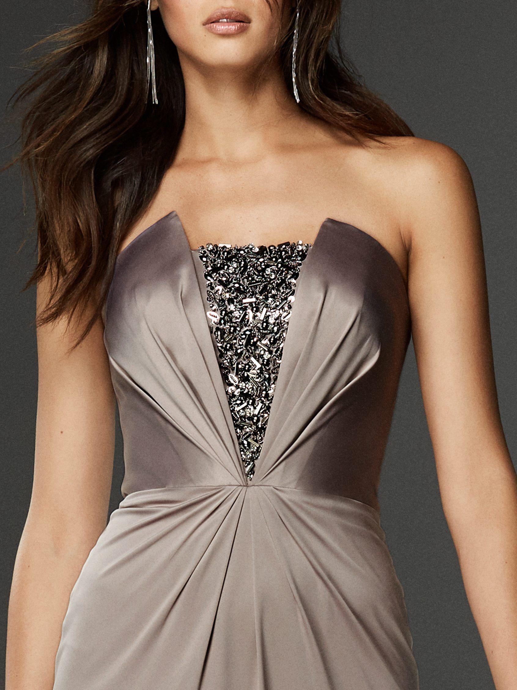 Strapless Formal Dress In Satin Pronovias Strapless Dress Formal Strapless Sheath Dress Evening Dresses [ 2255 x 1691 Pixel ]
