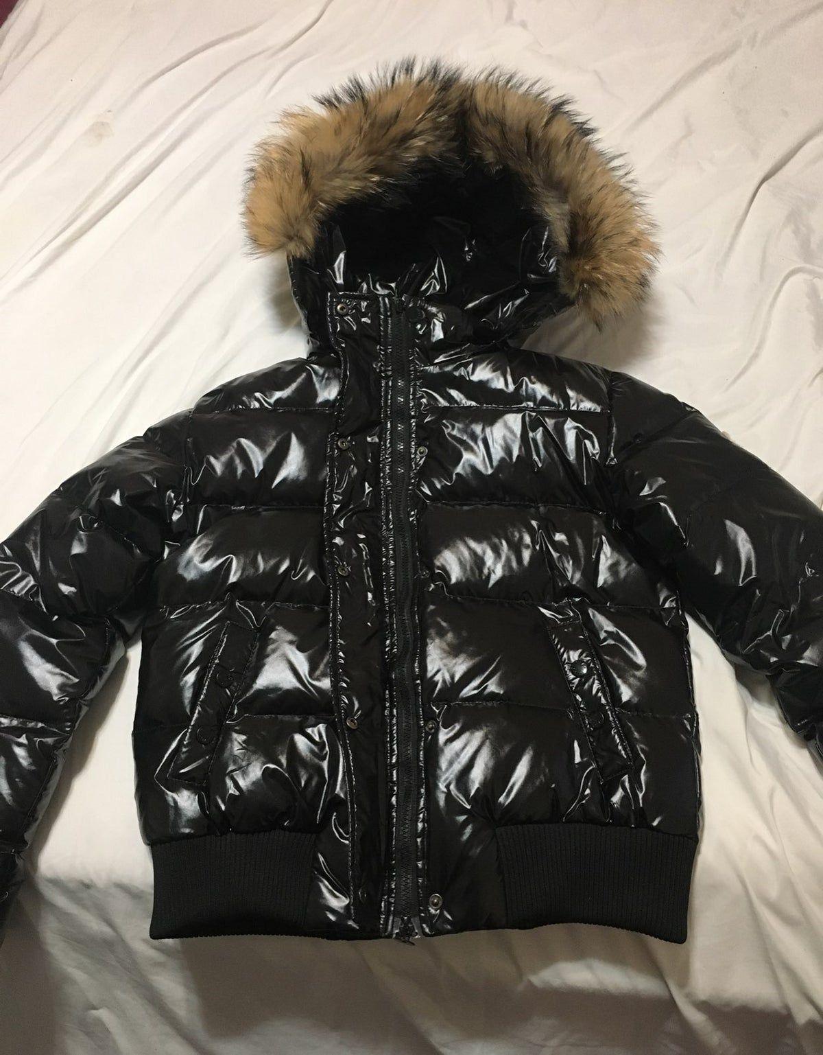 Moncler Fur Hood Puffer Jacket Black Puffer Jacket Jackets Shiny Jacket [ 1537 x 1200 Pixel ]