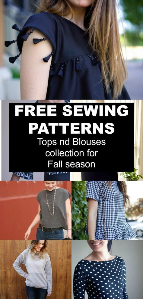 Free Pattern Alert Top And Blouses Collection For The Fall Season