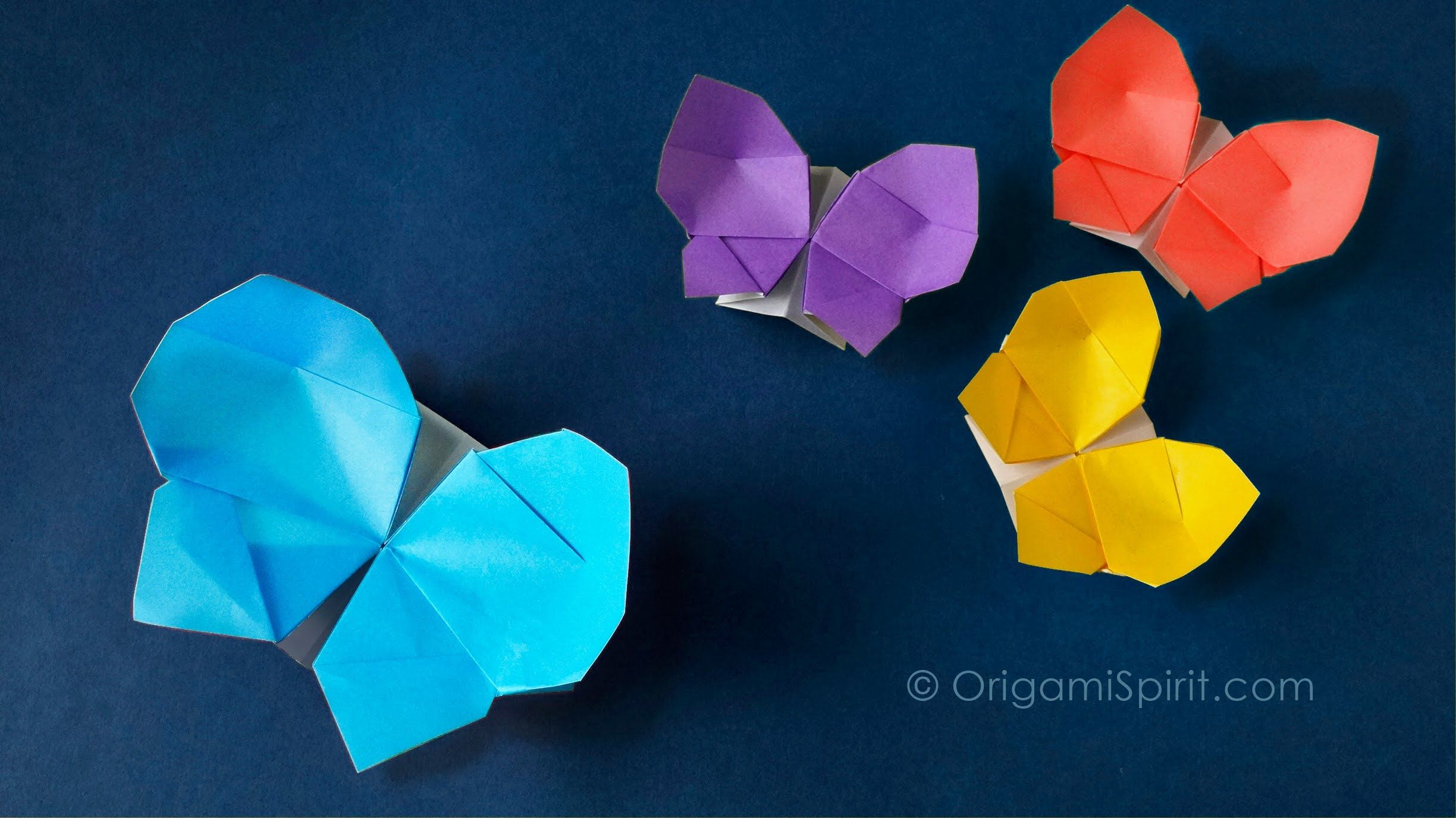 Origami Butterfly tutorial 012 // Origami Butterfly-Box ... - photo#43
