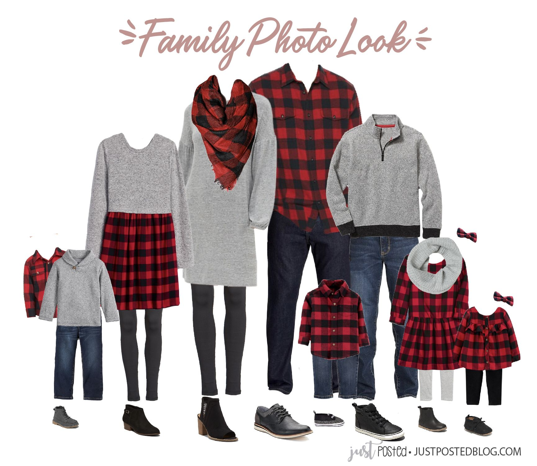 What to Wear for Family Pictures: Buffalo Plaid Perfect for Family Christmas Photos #familyphotooutfits