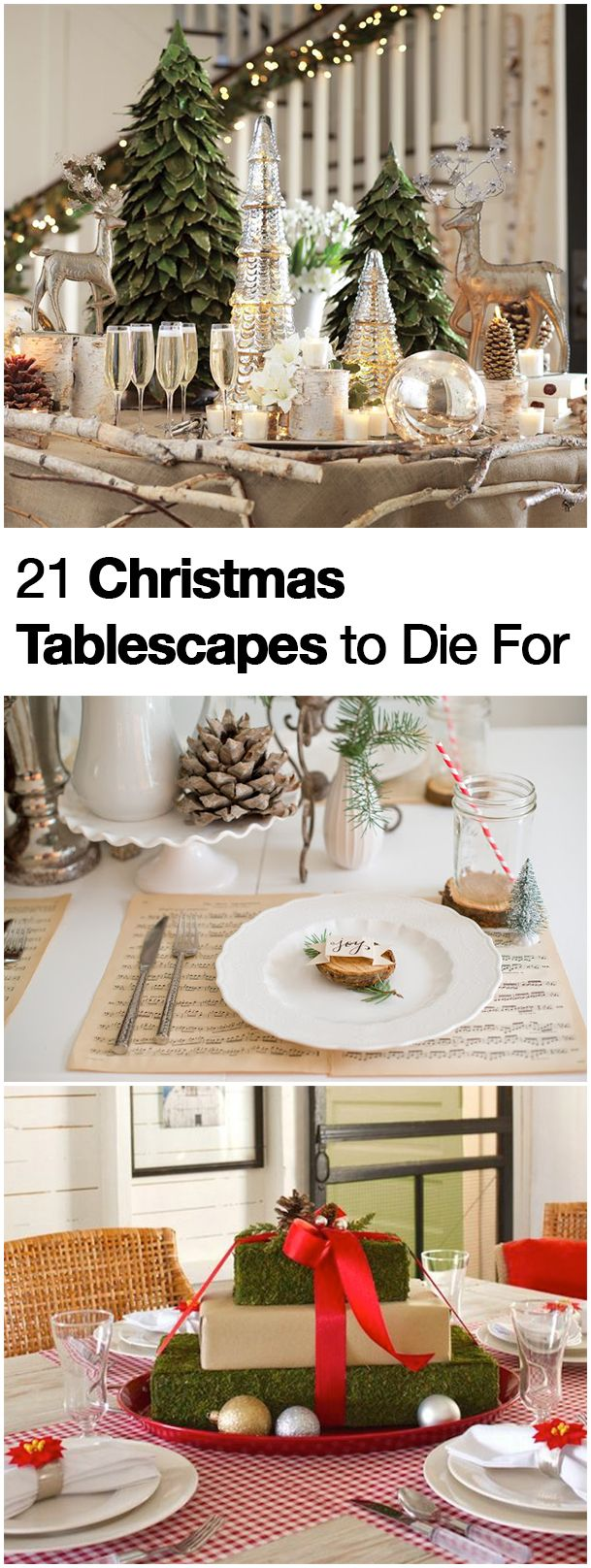 21 christmas table decorations and holiday settings to die for - Holiday Table Decorations Christmas