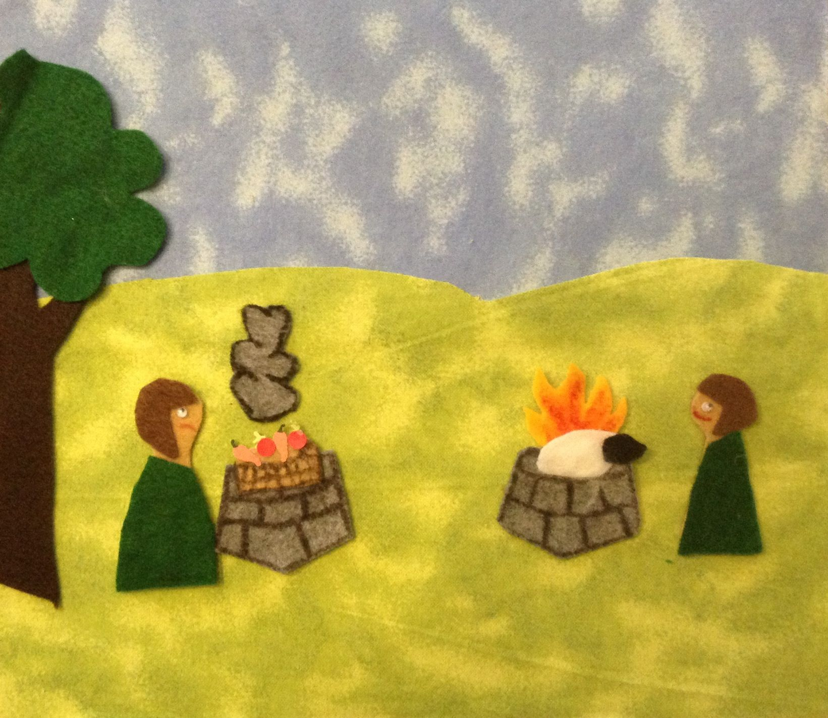 Cain and able felt story craft. #bible story # biblecraft # genesis ...