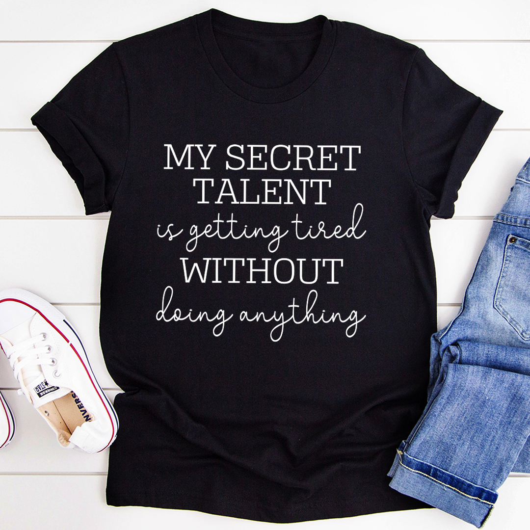 My Secret Talent Tee - Black Heather/2XL