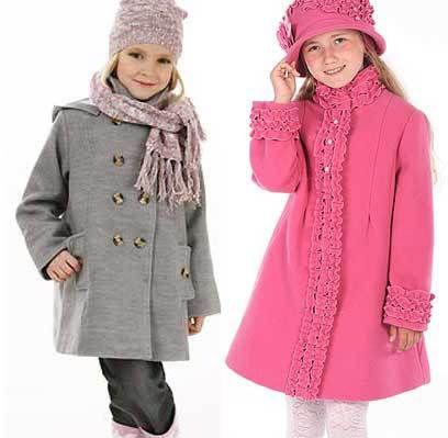 Abrigos de patrón para niñas - de manga