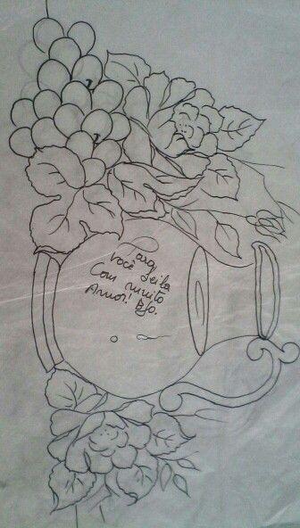 Riscos Pano De Prato Desenhos De Flores Riscos Para