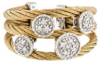 Charriol Two-Tone Diamond Station Cable Ring