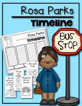 Rosa Parks {Timeline} for Kindergarten and First Grade Social ...