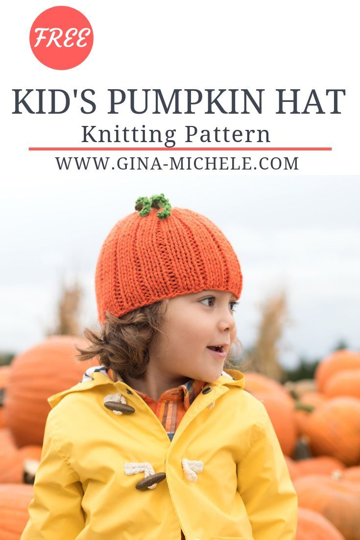 FREE knitting pattern for this Kid s Pumpkin Hat!  knitting  knittingpattern dad5a1a5443
