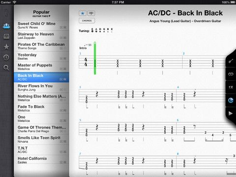 Songsterr Guitar Tabs-- includes lessons and instant access