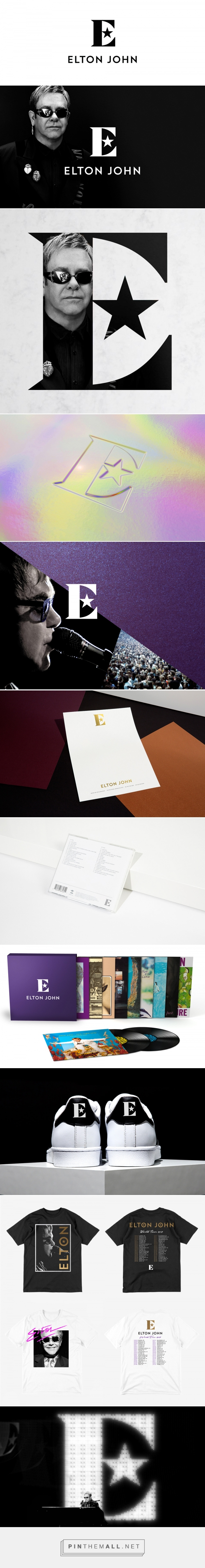 Brand New: New Logo and Identity for Sir Elton John by George Adams - created via https://pinthemall.net