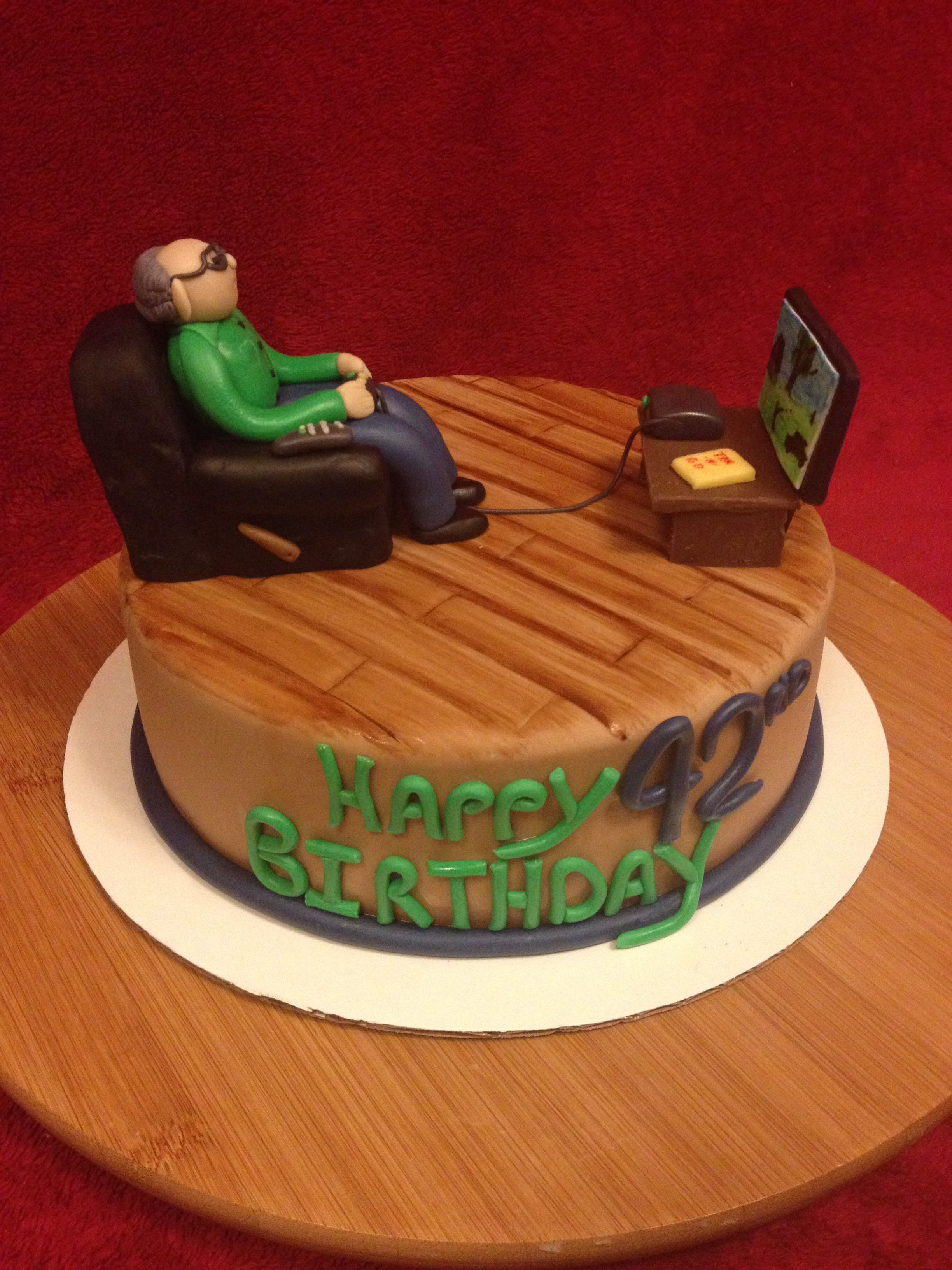 Old Man Birthday Cake Made By Lindsey Davis Cakes Pinterest