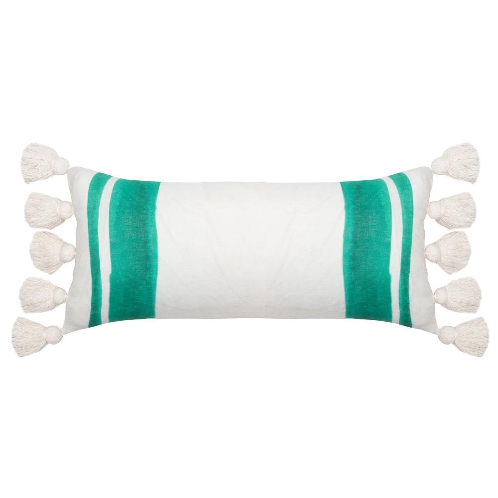 Langdon Ltd Sophie Pillow Green Pillows Hand Weaving Langdon