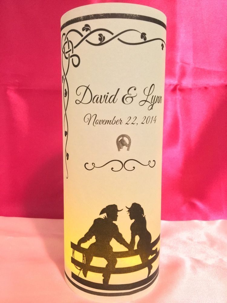 10 Personalized Love Hearts Wedding Luminaries Table Centerpieces Decorations