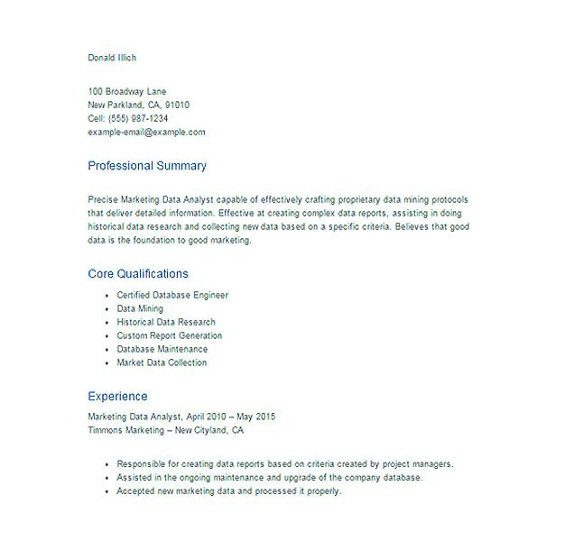awesome Best Data Scientist Resume Sample to Get a Job, Check more - Marketing Database Analyst Sample Resume