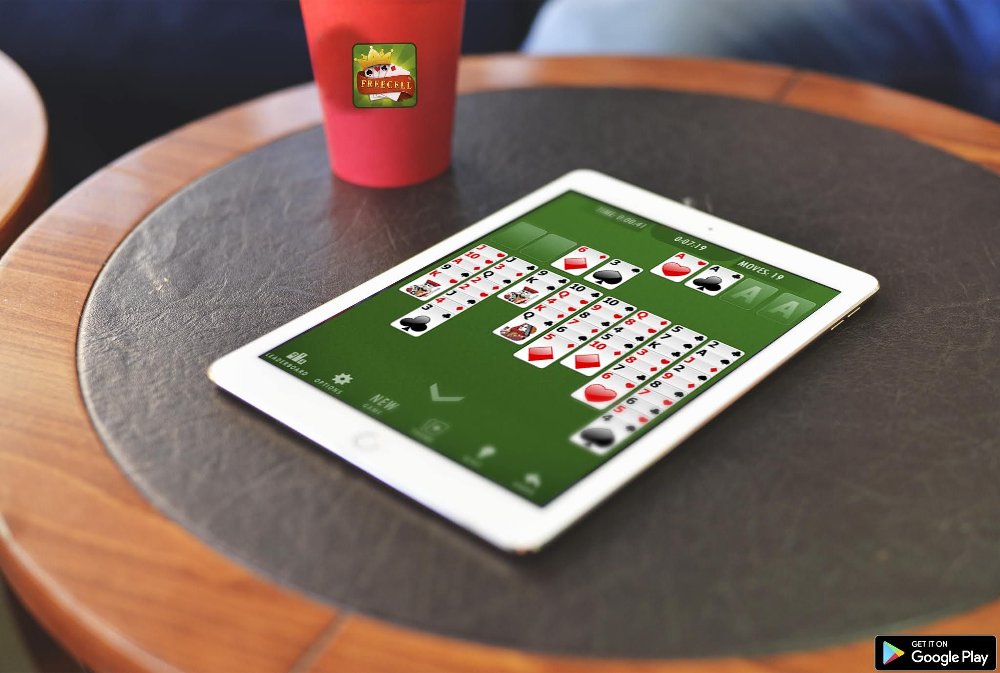 FreeCell Solitaire adds a new element of strategy to the